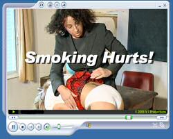 smoking gets bev a spanking